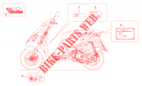 Placas y manual para Aprilia Sonic H2O 2005